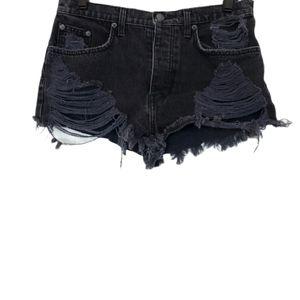 LF Carmar Distressed High Rise Jean Shorts 28